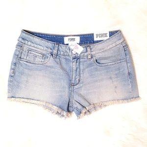 V.S. PINK New Cut Off Frayed Denim Shorts